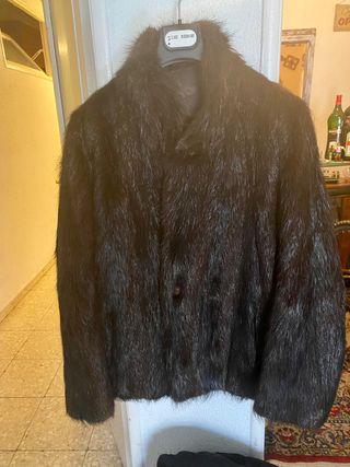 Abrigo piel de nutria hombre