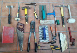 Lote de herramientas de construcción