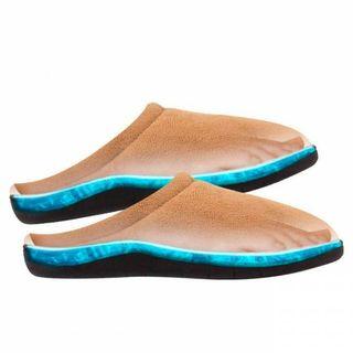 Zapatillas de estar por casa gel beige o azul