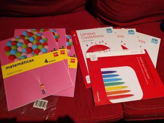 Libros 4 primaria (lengua castellana y matemática)
