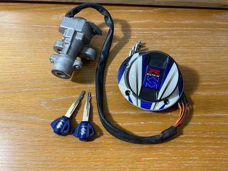 Cerraduras y dos llaves Suzuki Gsxr 600-750
