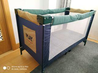 Cuna de Viaje Play con colchón de espuma