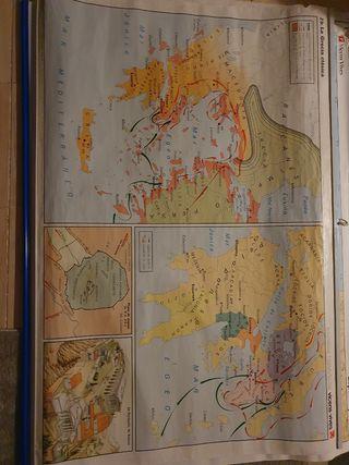 Mapa escolar poster mapamundi grecia y oriente