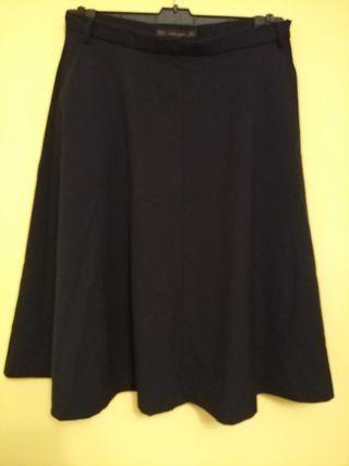 Falda larga Zara talla M Azul Marino