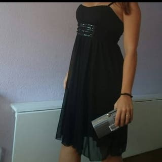vestido fiesta gasa corto