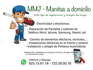Reparacion Pantallas telefono movil y baterias