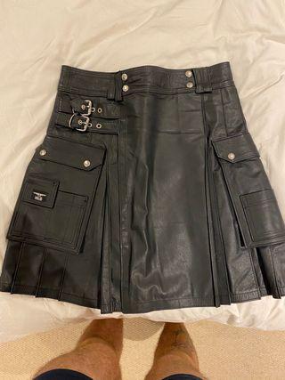 Man leather kilt MR B