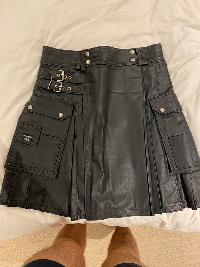 Man leather kilt MR B