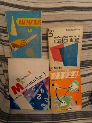 Lote 4 libros Matematicas, educacion secundaria