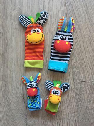 Calcetines y muñequeras con sonajero para bebé