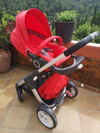Carro bebé Stokke silla y capazo más complementos