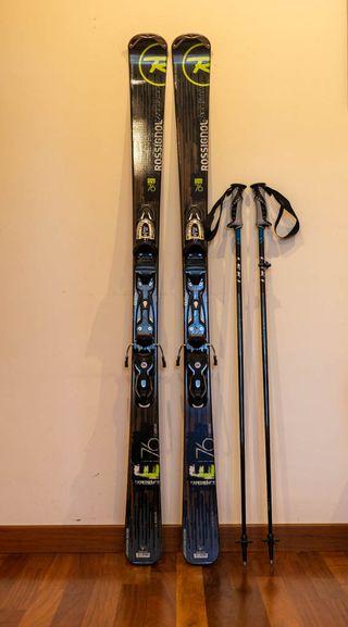 Kit de esqui (esquis+fijaciones+botas+palos