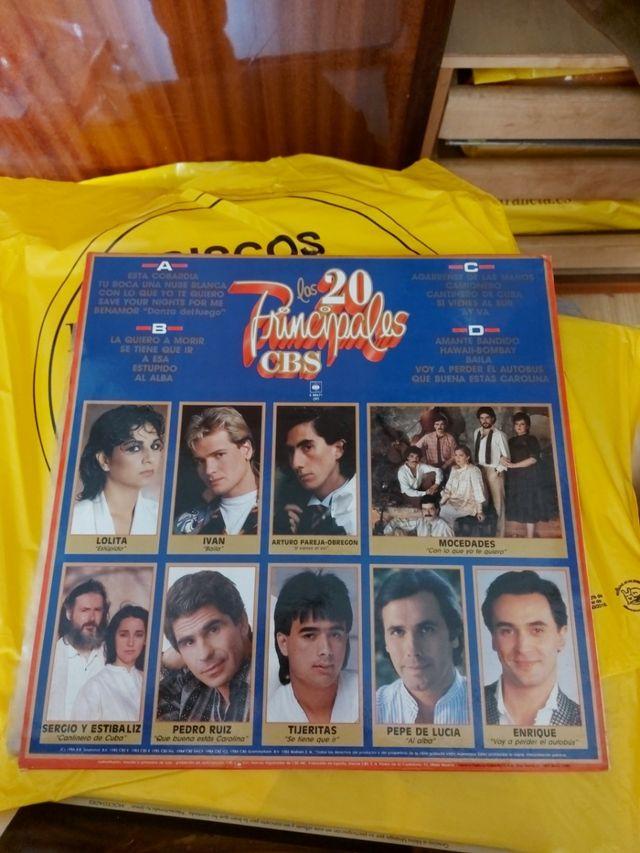disco vinilo los 20 principales cbs