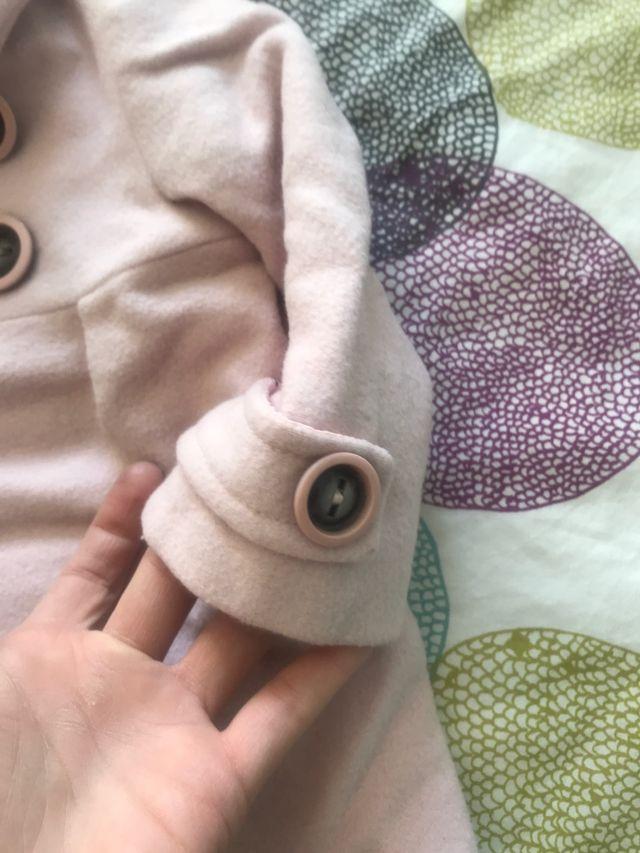 Abrigo Paño Bebé Rosa 9-12 meses