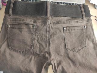 Pantalón chica marrón chocolate. Talla grande.