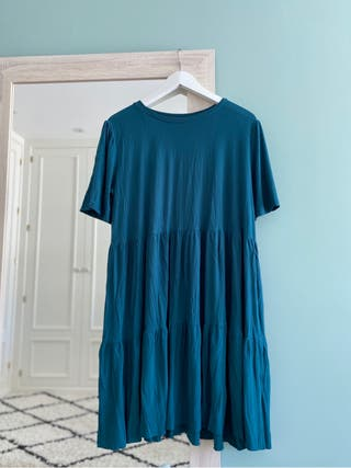 Vestido azul verdoso Zara