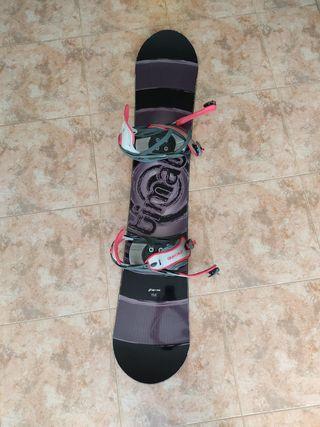 Tabla Snowboard 158 + Fijaciones + Botas t.43 snow