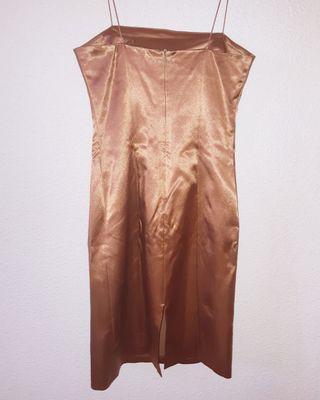 Vestido de Fiesta Bronce Dorado Fórmula joven