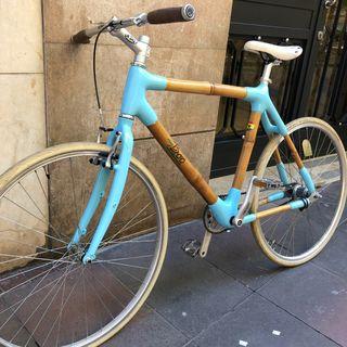 Bicicleta fixie con freno de alante