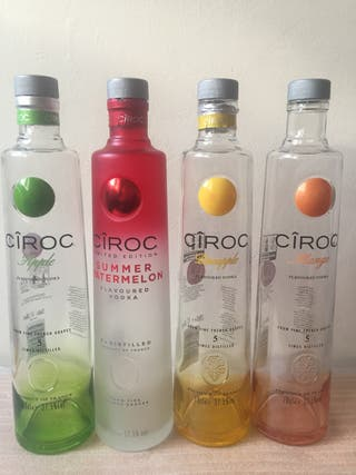Empty bottles Ciroc.