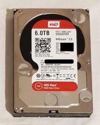 Disco duro 6 Tb WD Red para NAS