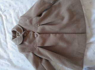 abrigo de paño color Camel