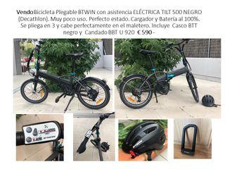 Vendo Bicicleta Plegable BTWIN electrica