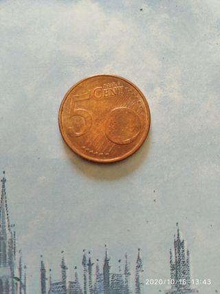 moneda de 5 cent de Andorra año 2017 en sc