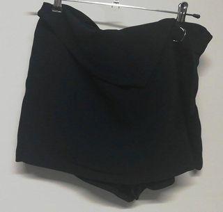 Falda pantalon azul oscuro Zara talla L