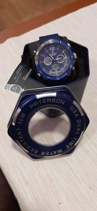 Reloj Paterson sin estrenar. Acero inoxidable.