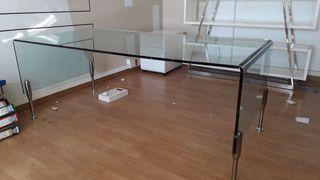 Mesa de cristal rectangular