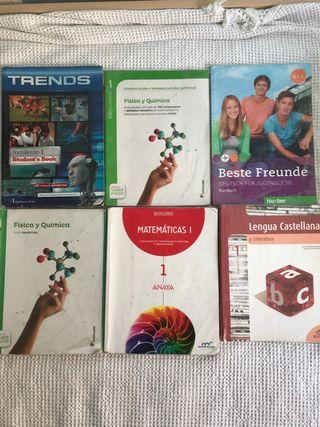 Libros 1º Bachillerato ciencias