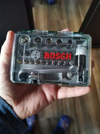 caja marca bosch herramientas atornillar