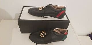 Gucci sneakers men 8.5 leather £270.00