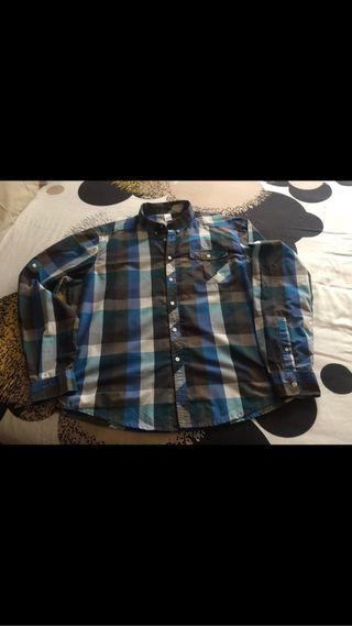 Camisa cuadros azules y blancos