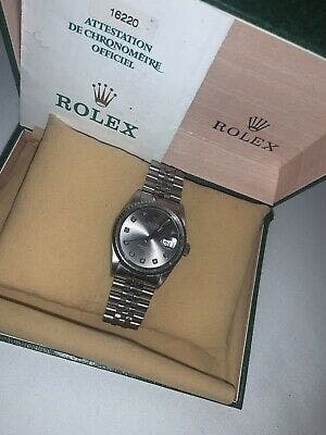Rolex DateJust 36mm 16220 Grey Rhodium Dial Stainl