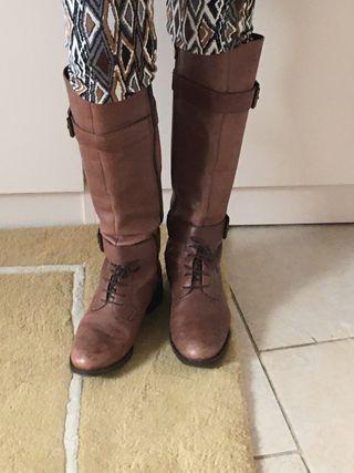 Botas altas PIEL marrón núm 39