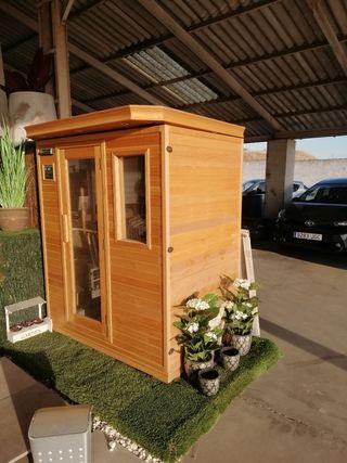 Cabina de calor tipo sauna
