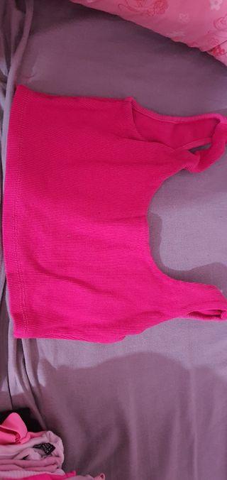 top rosa corto
