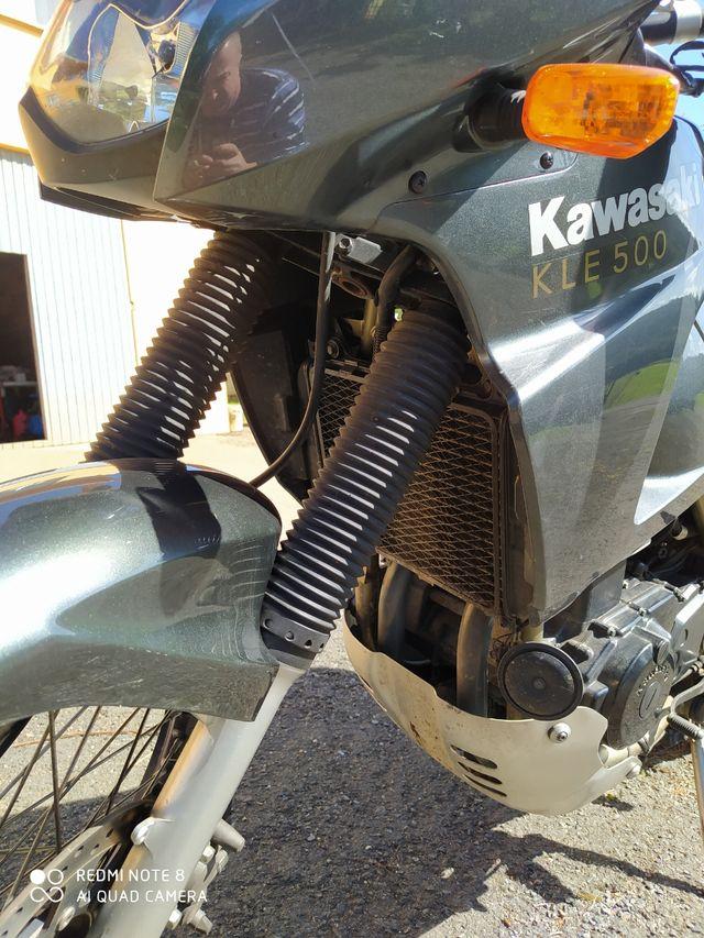 Moto trail Kawasaki KLE 500