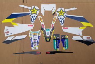 kit adhesivos personalizados paramoto enduro/cross