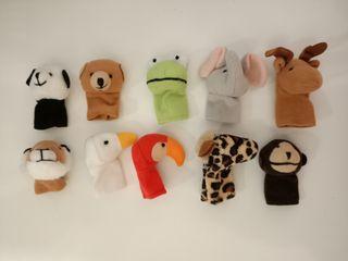 Marionetas animales dedo Ikea