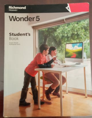 Libro de inglés wonder, de Richmond de 5°