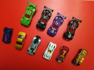 10 coches de Hotwheels