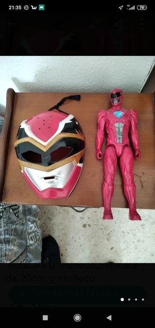 25 cochecito y mascara y muñeco pawer Ranger