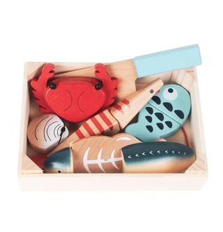 caja madera marisco