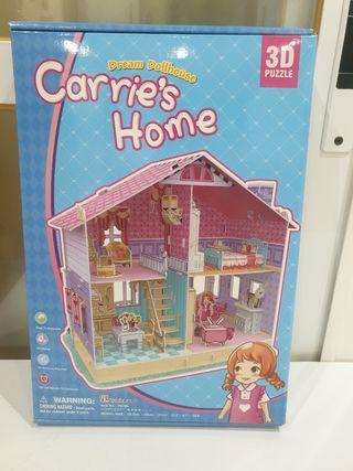 Puzzle 3D Casa de muñecas.