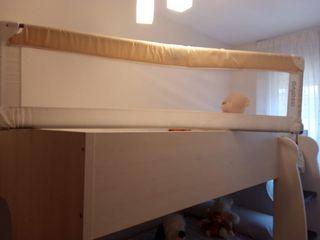 Barrera cama desmontable 150x43 marca asalvo.