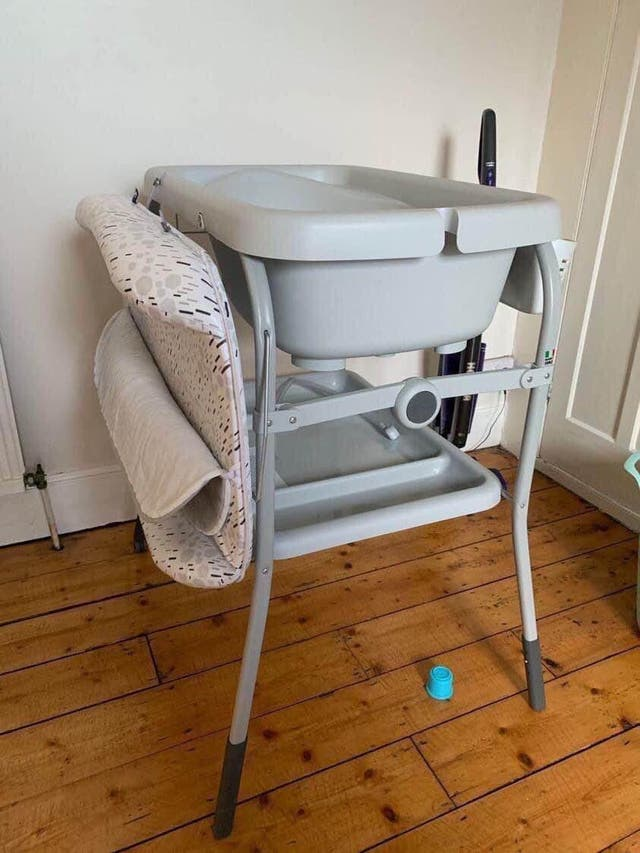 Bath and changing table