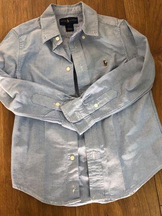 Camisa niño Polo Ralph Lauren. Talla 5. Denim